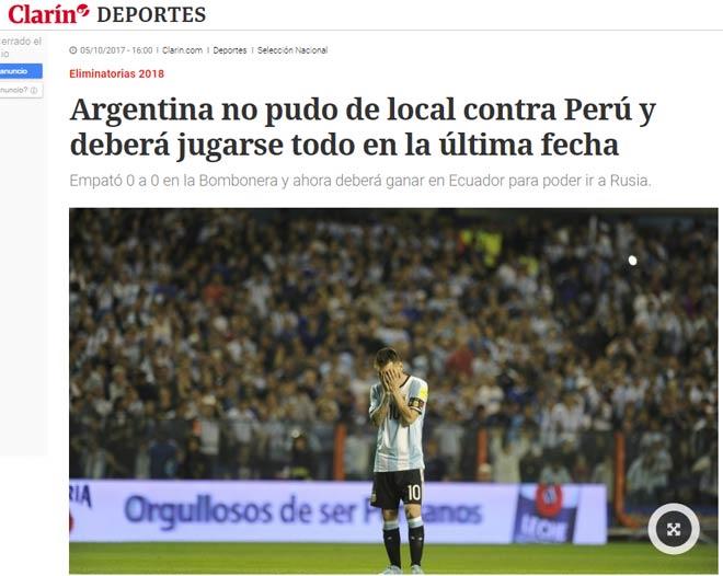 Nguy cơ lỡ World Cup, báo chí Argentina trút giận lên Messi - 2