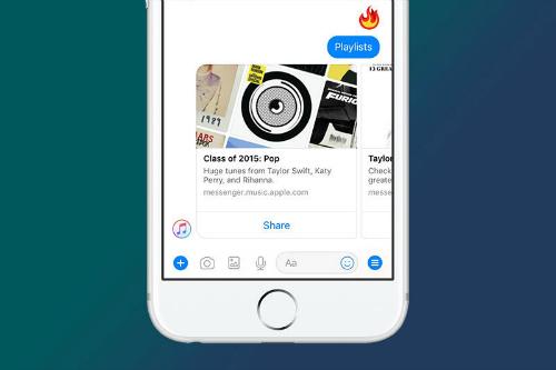 Facebook Messenger đã được tích hợp Apple Music - 1