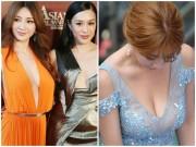 """Thiên thần vòng 1 khiến các mỹ nữ showbiz  """" xanh mặt """"  khi dự sự kiện"""