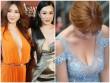 """Thiên thần vòng 1 khiến các mỹ nữ showbiz """"xanh mặt"""" khi dự sự kiện"""