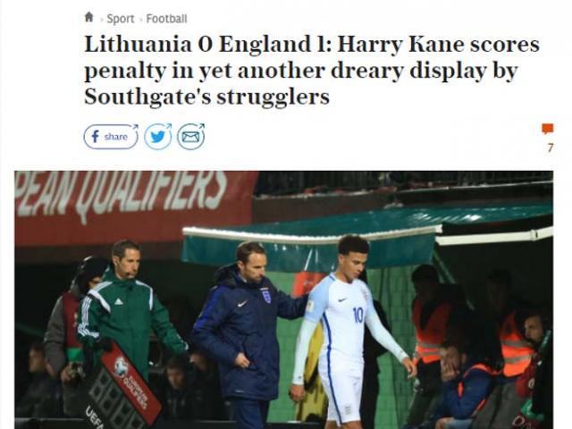 """ĐT Anh dự World Cup với siêu kỷ lục vẫn nhận """"mưa gạch đá"""""""