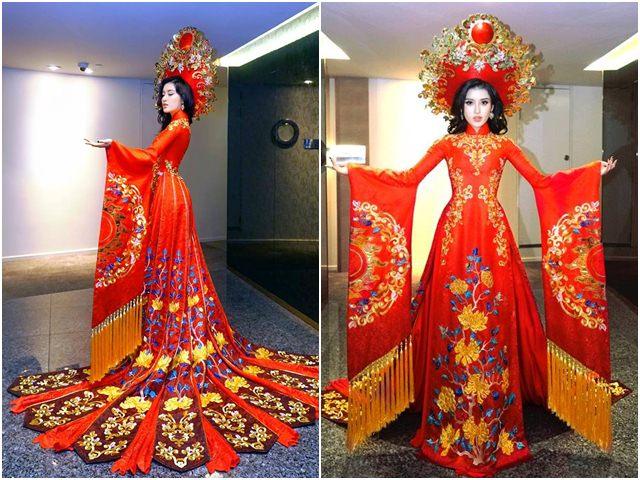 Lộ trang phục dân tộc của Huyền My ở Hoa hậu Hòa bình 2017