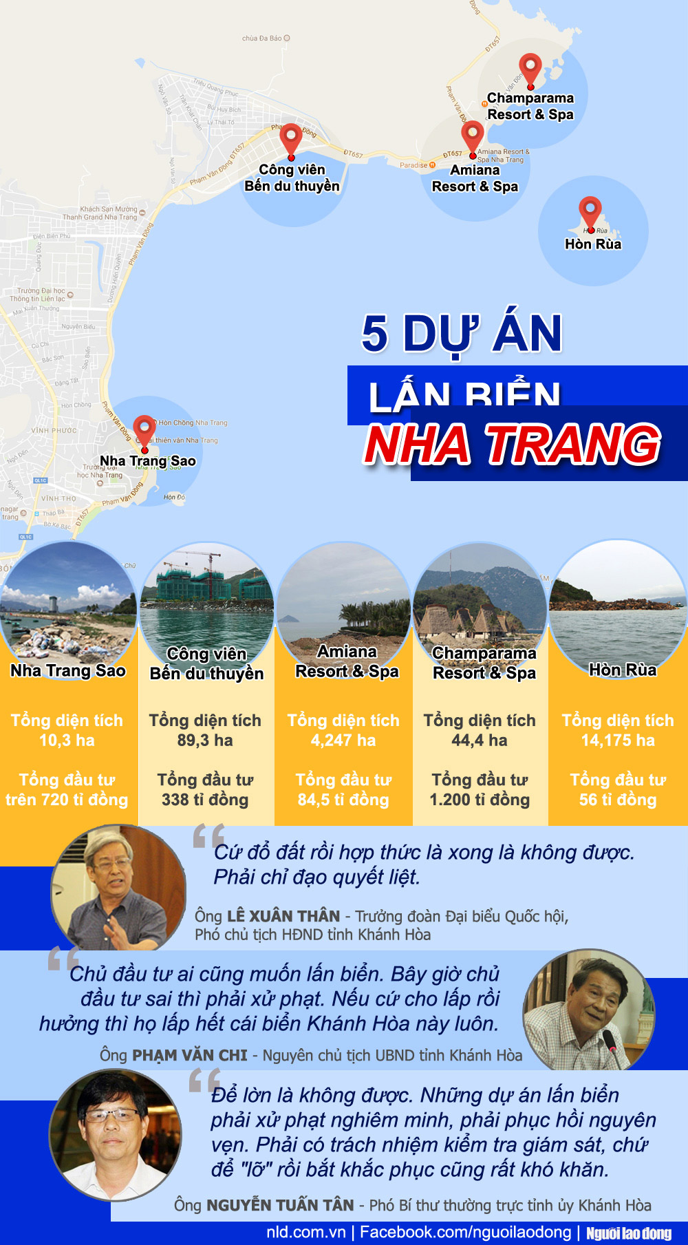 [Infographic] Toàn cảnh 5 dự án lấn vịnh Nha Trang - 1