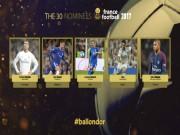 Quả bóng Vàng 2017: Ronaldo đấu 29 SAO, sợ mỗi Messi 46 bàn