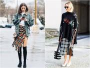 Thời trang - 8 cách mặc chuẩn với chiếc váy yêu kiều nhất mùa thu