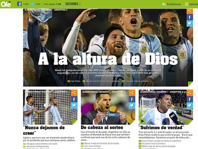 Báo chí thế giới: Messi làm lu mờ Maradona, bóng đá nợ Messi một cúp Vàng
