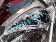 """Sơn airbrush - nghệ thuật  """" thổi hồn """"  cho xe máy"""