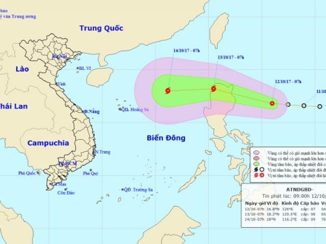 Sắp xuất hiện cơn bão mạnh tương đương bão số 10?