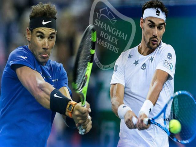 """Nadal - Fognini: Tung đòn sấm sét diệt """"khắc tinh"""" (Vòng 3 Thượng Hải Master)"""