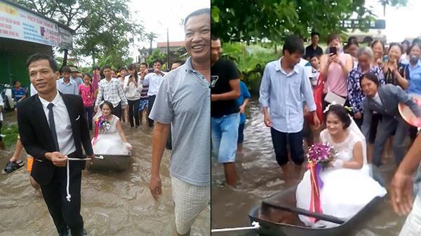 Tâm sự của cô dâu được kéo xuồng trong ngày cưới - 1