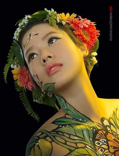Cô gái Sài Gòn làm mẫu khỏa thân vẽ lên người kể sự thật về nghề - 2