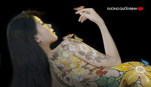 Cô gái Sài Gòn làm mẫu khỏa thân vẽ lên người kể sự thật về nghề - 5