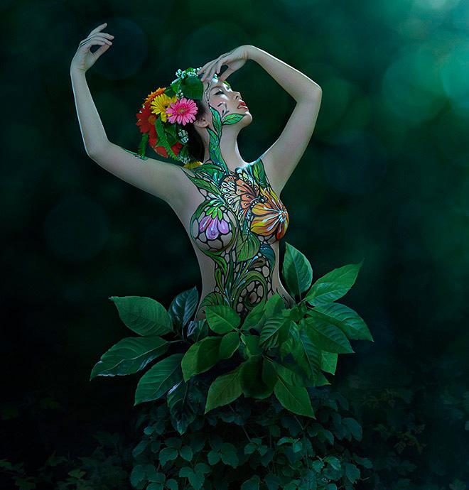 Cô gái Sài Gòn làm mẫu khỏa thân vẽ lên người kể sự thật về nghề - 3
