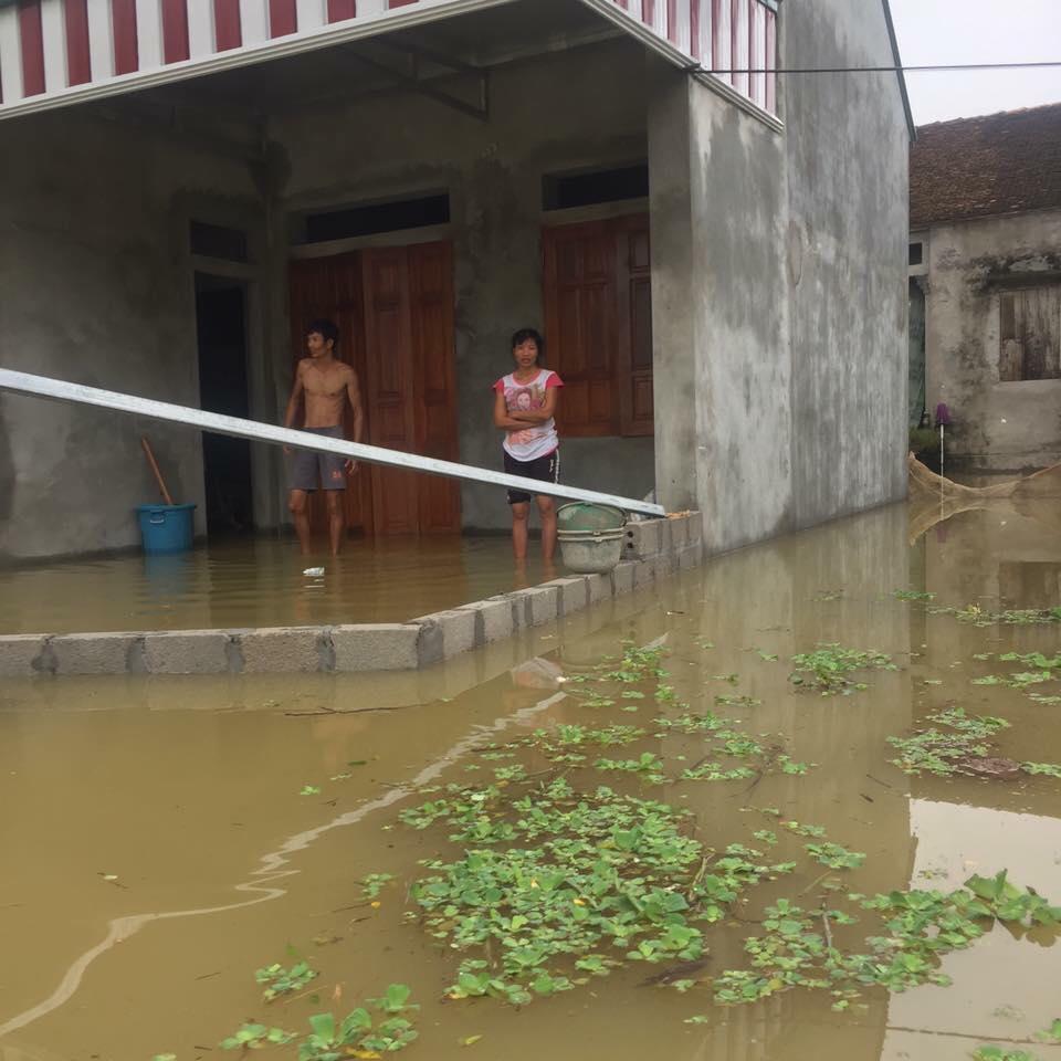 Chương Mỹ - Hà Nội: Làng mạc biến thành sông, dân vật lộn trong biển nước - 12