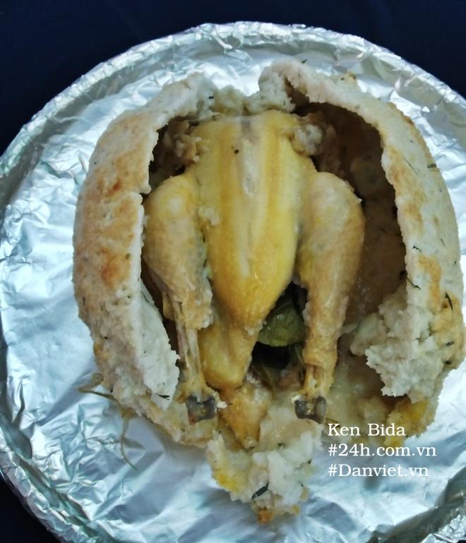 Cách làm gà không lối thoát phiên bản bột mì muối hột cực lạ, cực ngon - 6