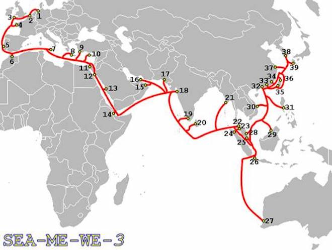 Đã xác định được nguyên nhân sự cố trên tuyến cáp quang biển SMW-3 - 1