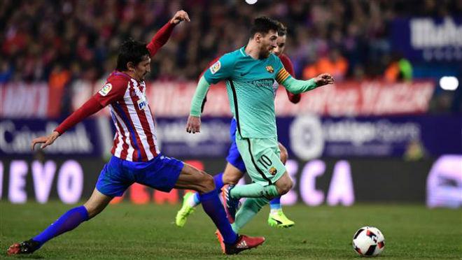 """Atletico Madrid – Barcelona: Messi bùng nổ, công phá """"pháo đài"""" mới - 1"""