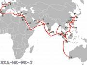 Đã xác định được nguyên nhân sự cố trên tuyến cáp quang biển SMW-3