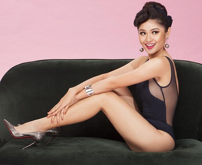Á hậu Thùy Dung hiếm hoi khoe dáng với bikini khêu gợi - 5