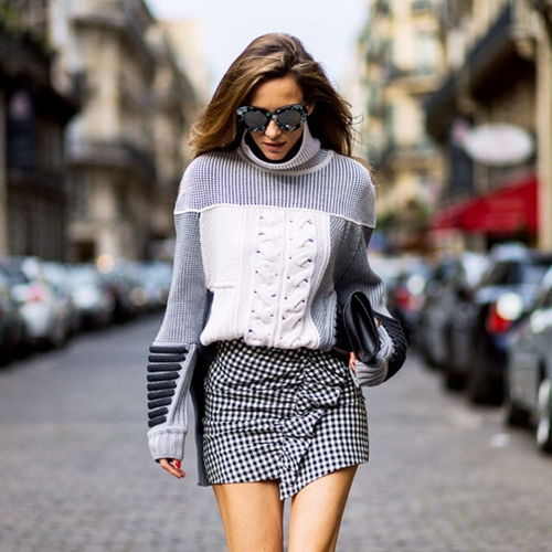4 quy tắc vừa đẹp vừa ấm cho hội mê váy ngắn mùa thu đông - 2
