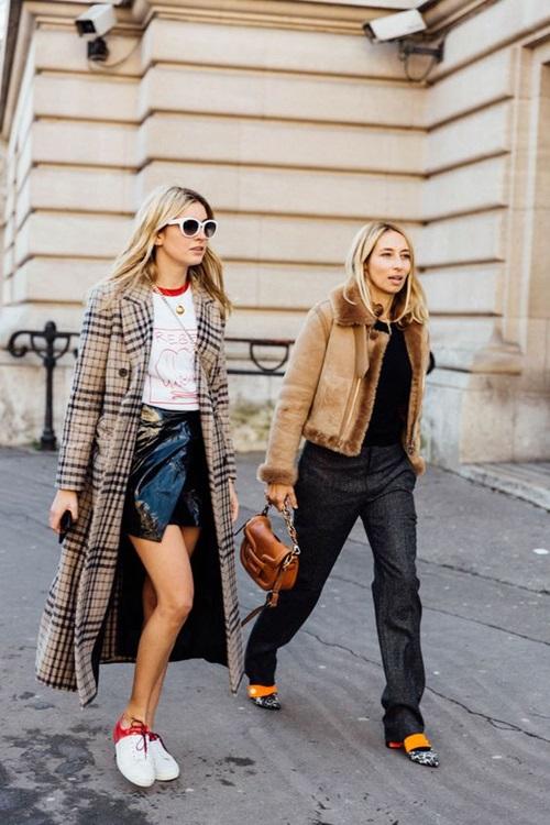 4 quy tắc vừa đẹp vừa ấm cho hội mê váy ngắn mùa thu đông - 5