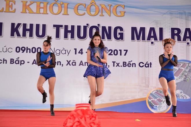 Phạm Anh Khoa, Hoàng Yến Chibi khuấy động lễ khởi công Khu thương mại Rạch Bắp – An Điền - 2