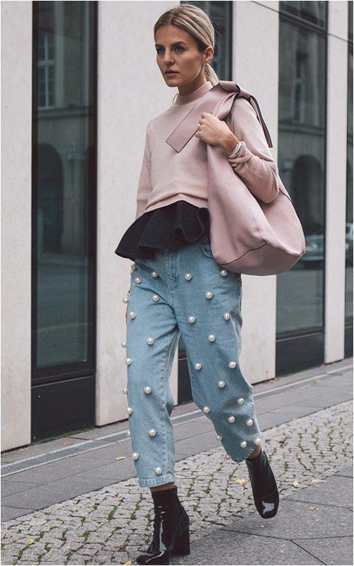 Quần jeans đính ngọc trai - không chỉ dành cho nàng bánh bèo - 2