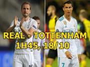 """Real Madrid - Tottenham: """"Trọng pháo"""" Ronaldo - Kane so tài"""