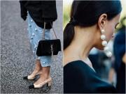 Quần jeans đính ngọc trai - không chỉ dành cho nàng bánh bèo