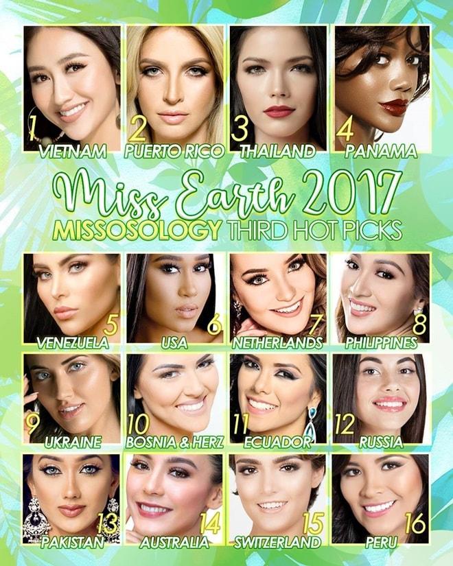 Đại diện Việt được tiên đoán là Hoa hậu Trái đất 2017 - 1