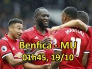 """Benfica - MU: Mourinho sửa sai, quyết bẻ cánh """"Đại bàng"""""""