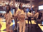 """Hội mẹ bầu quẩy sung """"rung"""" cả ga tàu điện ngầm TQ"""
