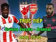 TRỰC TIẾP Crvena Zvezda - Arsenal: Không Sanchez - Ozil, không luôn Lacazette