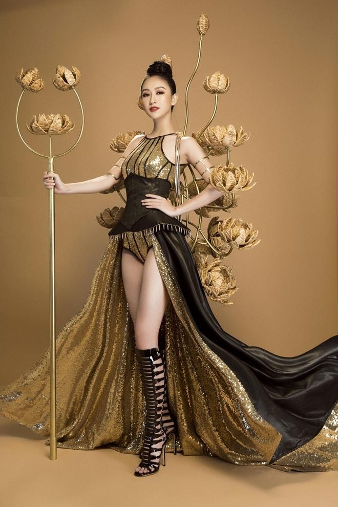 Trang phục truyền thống ngắn như đồ bơi của mỹ nữ Việt tại Hoa hậu Trái đất - 1