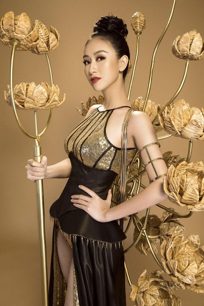 Trang phục truyền thống ngắn như đồ bơi của mỹ nữ Việt tại Hoa hậu Trái đất - 2