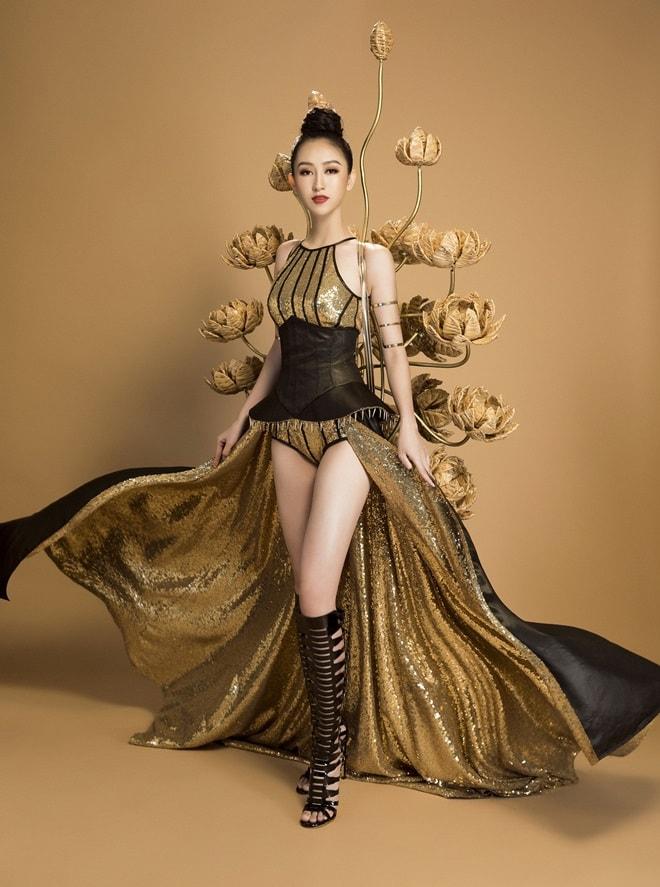 Trang phục truyền thống ngắn như đồ bơi của mỹ nữ Việt tại Hoa hậu Trái đất - 4