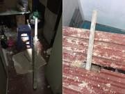 Tin tức trong ngày - HN: Hai thanh sắt dài 2m xuyên thủng nhà dân, chủ nhà suýt mất mạng