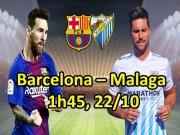 Barcelona – Malaga: Messi gặp hàng thủ siêu dễ dãi