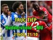 """TRỰC TIẾP Huddersfield - MU: Martial - Lukaku đá chính, """"Quỷ đỏ"""" săn kỷ lục"""