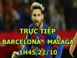 Chi tiết Barcelona - Malaga: Alcacer mừng hụt (KT)