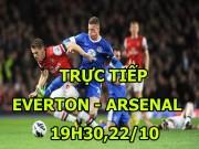"""TRỰC TIẾP Everton - Arsenal: """"Pháo thủ"""" ép sân dồn dập"""