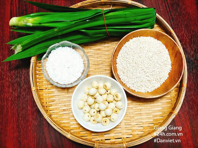 Bữa sáng mùa thu ấm bụng với xôi lá dứa hạt sen thơm dẻo - 2