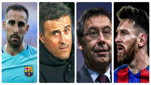 Kết quả hình ảnh cho Messi trút giận lên Enrique và sếp lớn Barca