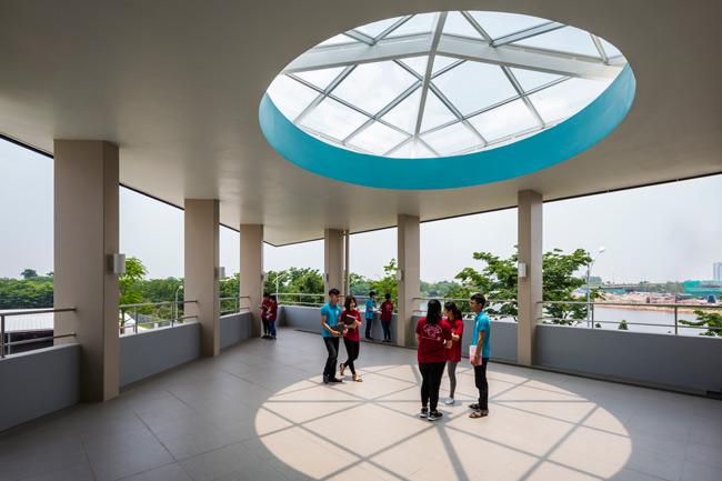 Kiến trúc độc đáo của trường Đại học Nhật Bản tại Việt Nam được ca ngợi - 5