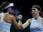 "WTA Finals ngày 4: Garcia  "" hạ knock-out ""  Svitolina"