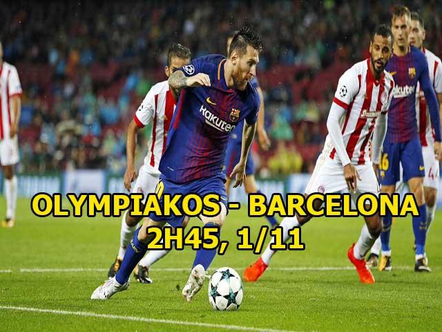 Chi tiết Olympiakos - Barcelona: Messi bỏ lỡ 2 cơ hội liên tiếp (KT) - 5