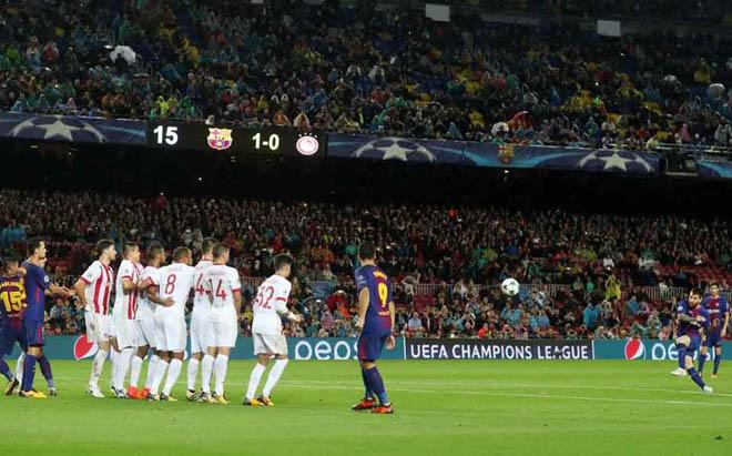 Chi tiết Olympiakos - Barcelona: Messi bỏ lỡ 2 cơ hội liên tiếp (KT) - 3