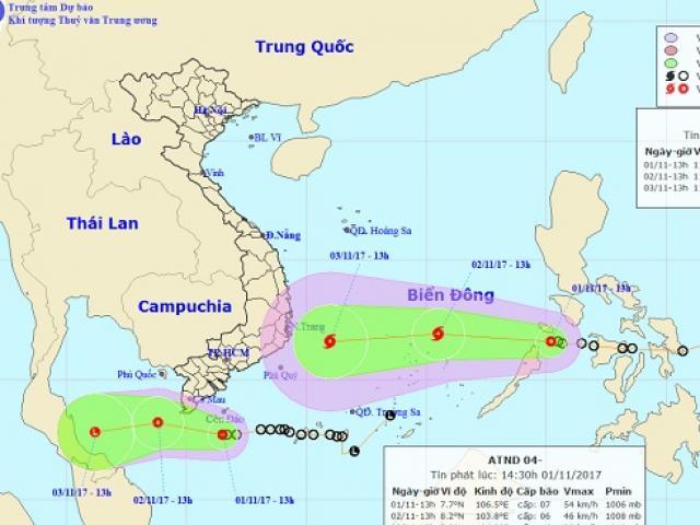 Bão có khả năng đổ bộ thời điểm diễn ra APEC 2017 - 2