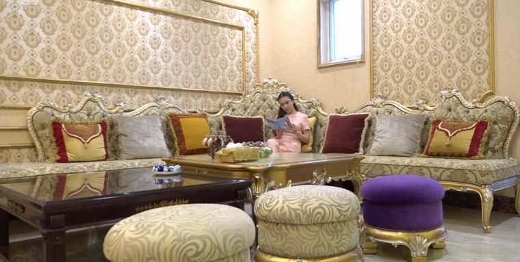 """Nhà đẹp của sao: Ngất ngây biệt thự """"hoàng gia"""" của Hồ Quỳnh Hương - 7"""