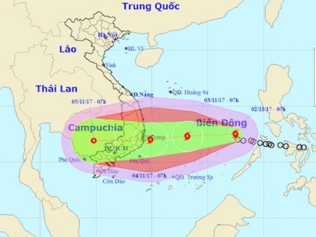 Bão số 12 có thể giật cấp 15, đổ bộ đất liền các tỉnh Nam Trung Bộ - 2